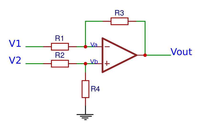 Differential operational amplifier