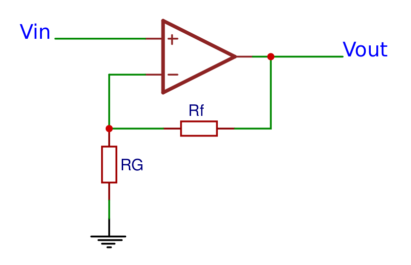 Non-inverting operational amplifier