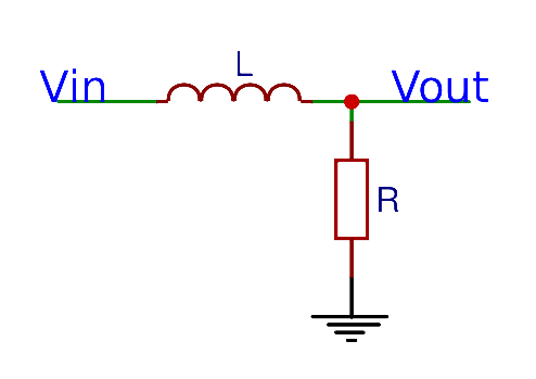 RL Low-pass filter